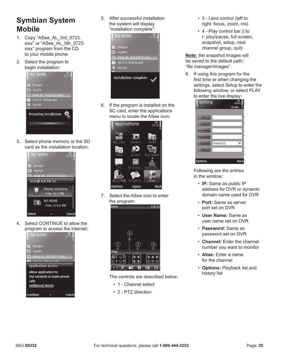 Bunker Hill Security Mobile Setup : bunker, security, mobile, setup, Symbian, System, Mobile, Harbor, Freight, Tools, BUNKER, SECURITY, 68332, Manual