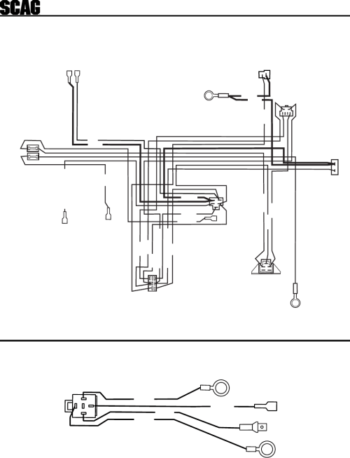 small resolution of scag wiring harnes diagram