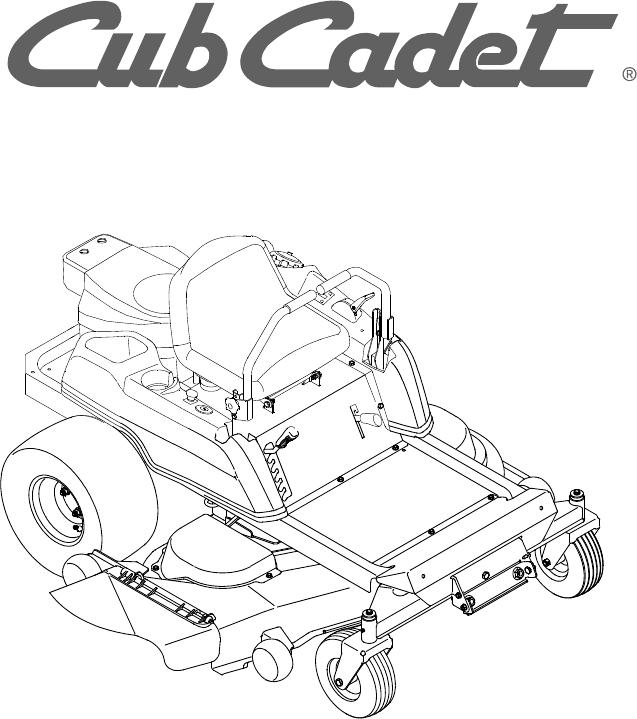 Cub Cadet RZT 50 manual