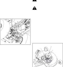 cub cadet lt1045 lt1046 lt1050 hydrostatic transmission changing the deck belt [ 1011 x 1148 Pixel ]