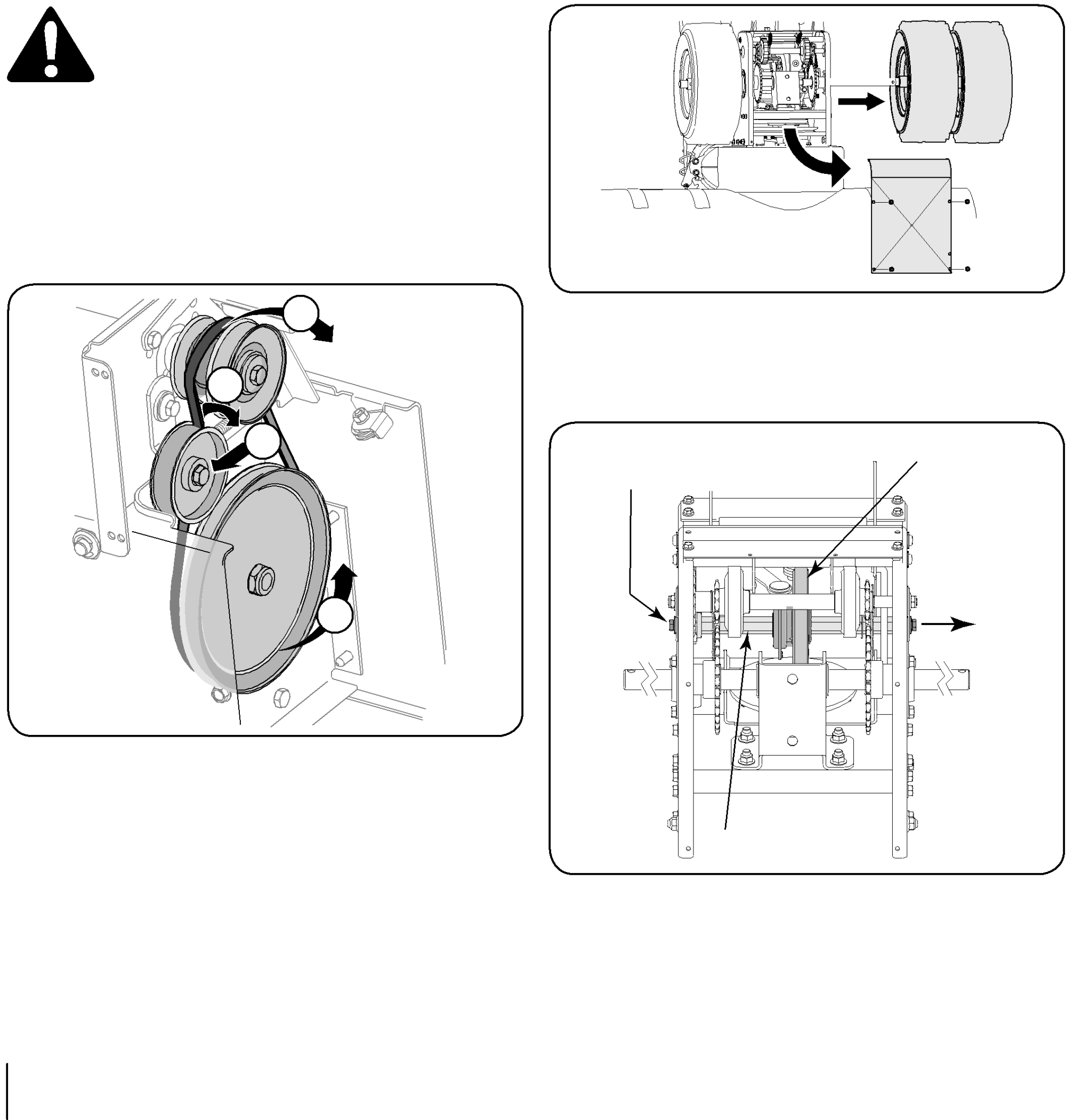 hight resolution of if also replacing the drive belt proceed to the drive belt instruction if not reposition the transmission frame back onto the auger housing