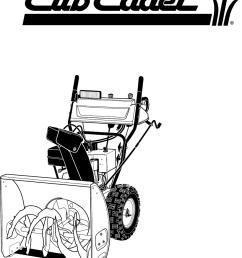 cub cadet snow blower schematic [ 819 x 978 Pixel ]