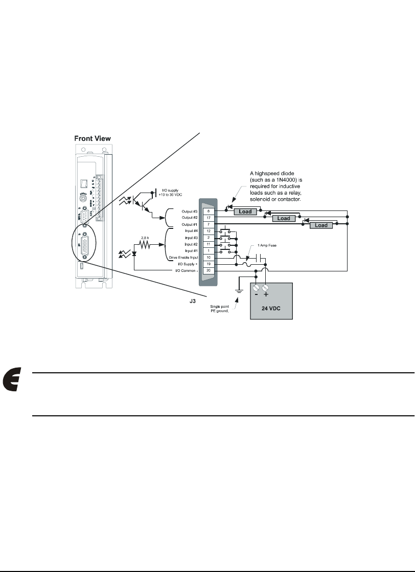 hight resolution of  emerson 400501 05 epsilon eb digital servo drive input output and on emerson motor wiring 220 wiring diagram