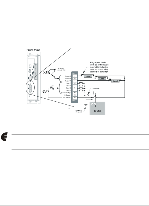 small resolution of  emerson 400501 05 epsilon eb digital servo drive input output and on emerson motor wiring 220 wiring diagram