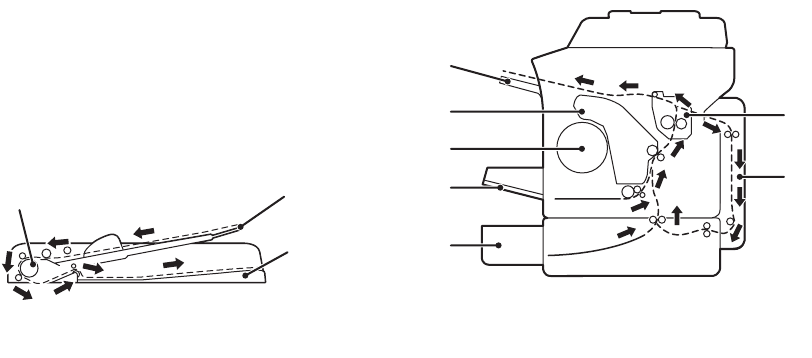 Xerox 6121MFP Informazioni sul percorso dei supporti