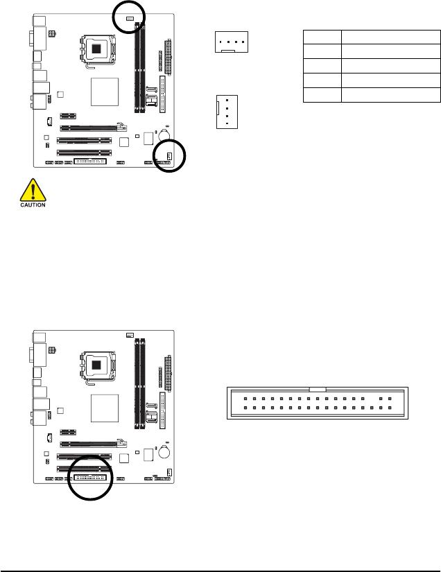 Gigabyte GA-73PVM-S2H 3/4) CPU_FAN/SYS_FAN (Fan Headers