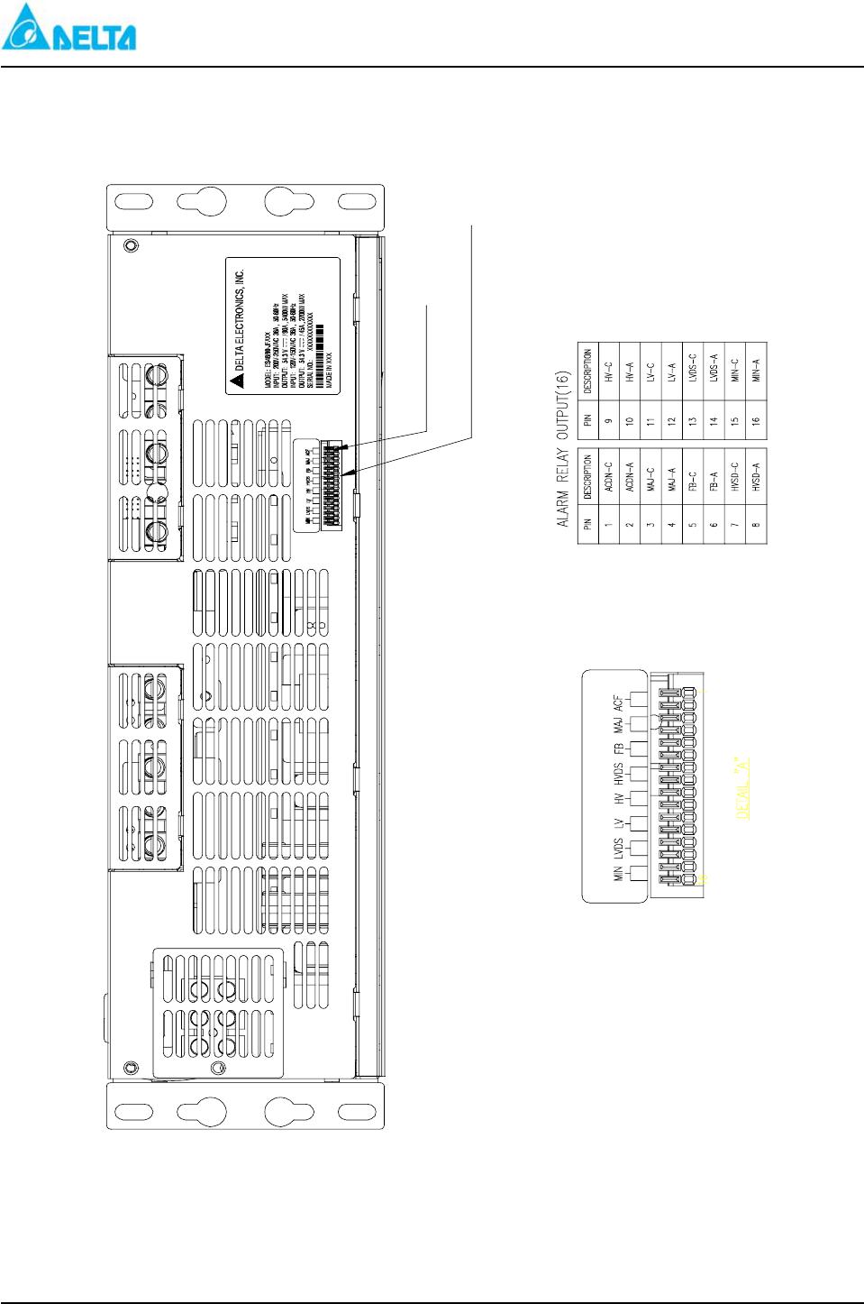 hight resolution of delta mcs 1800 figure 3 1 es 48 90 jfaxx alarm relay output connectors