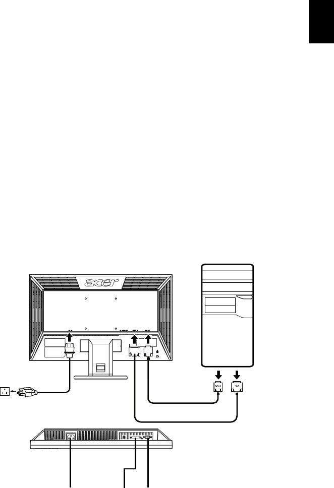 Acer V203H Installation