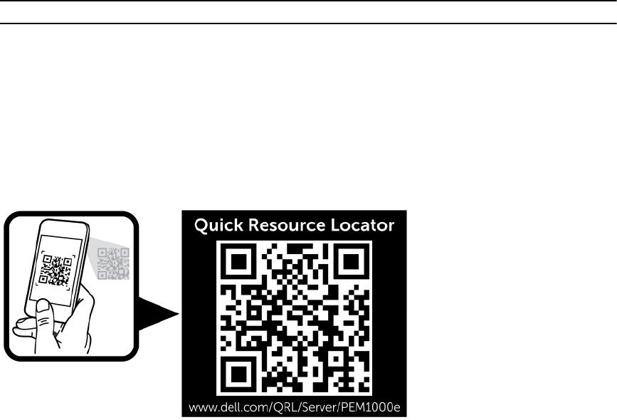 Dell M1000E Quick Resource Locator