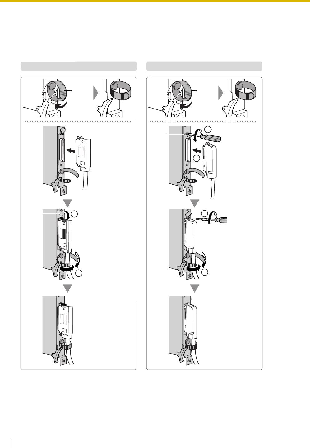 Panasonic KX-TDA100 2.2.10 Fastening Amphenol Connector