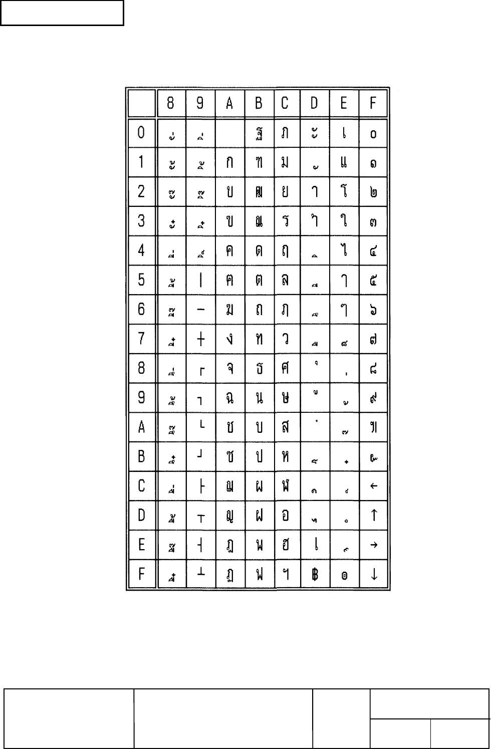 Epson TM-T88III Series 3.2.16 Page 25 (Thai character code 17)