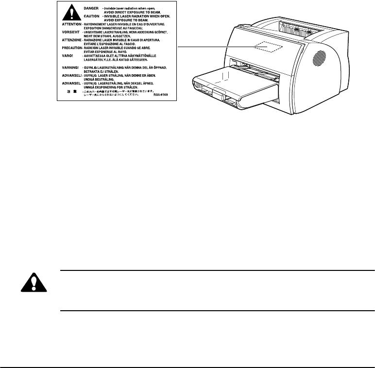 Canon LBP-1210 Laser Safety (110127 V / 220240 V models)