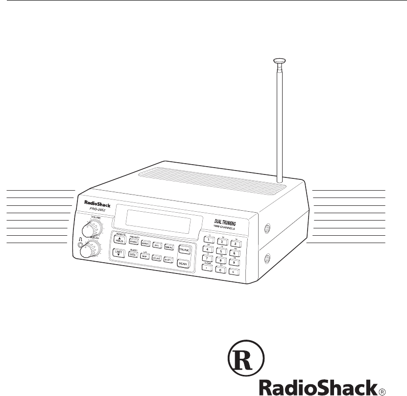Radio Shack PRO-2052 owner manual