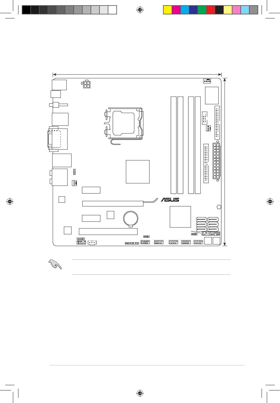 Asus P5Q-EM DO 1.5.3 Motherboard layout