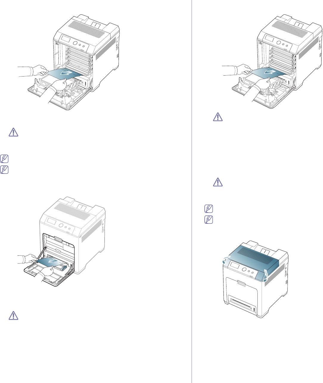 Samsung CLP-775 SERIES, CLP775ND In the multi-purpose tray