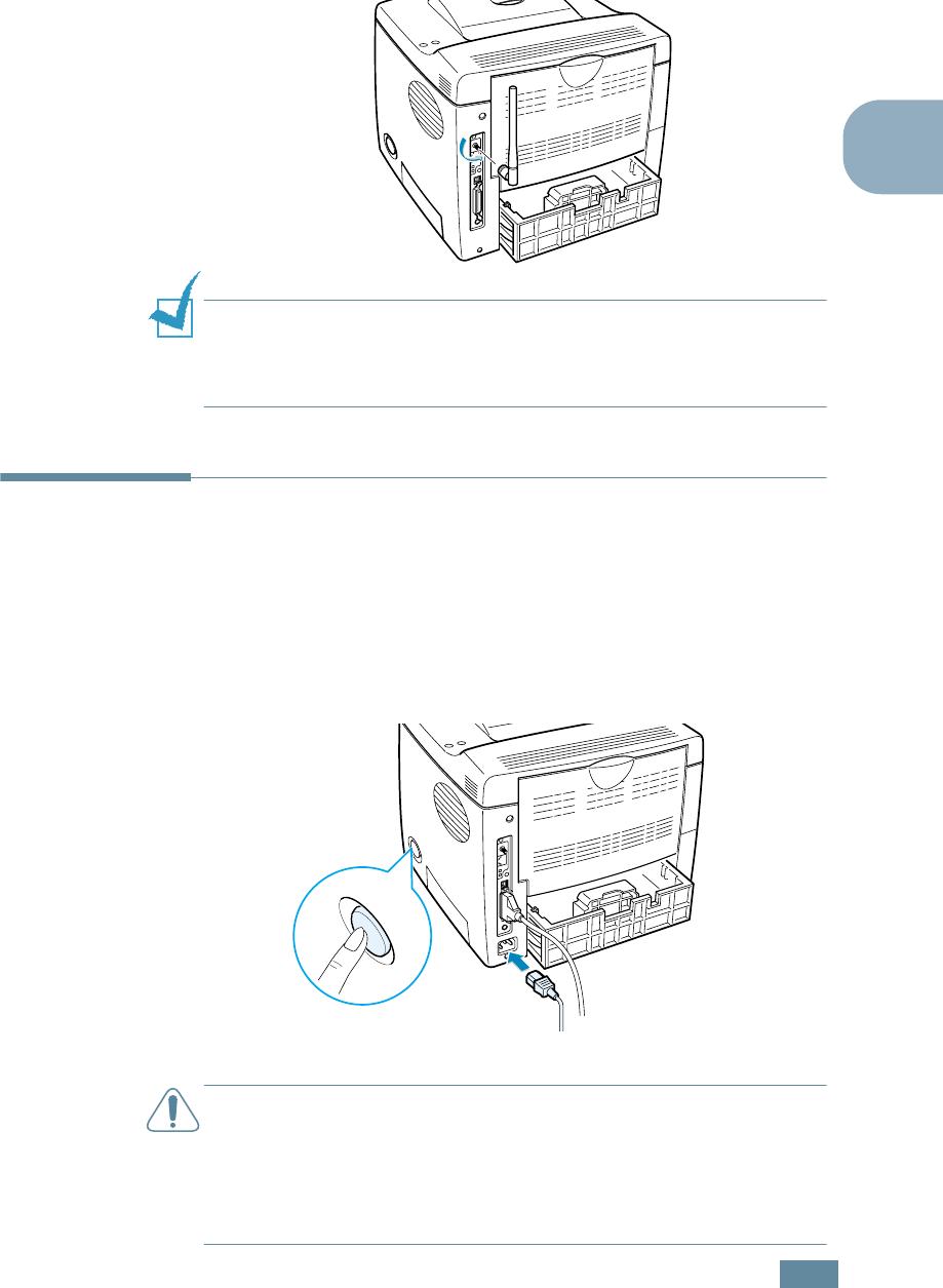Samsung ML-2550 Series Turning the Printer On