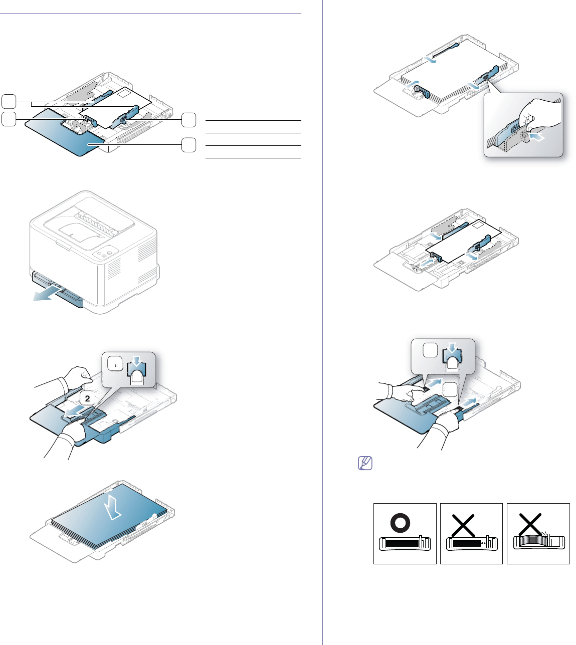 Samsung CLP-320, CLP-325W Changing the tray size