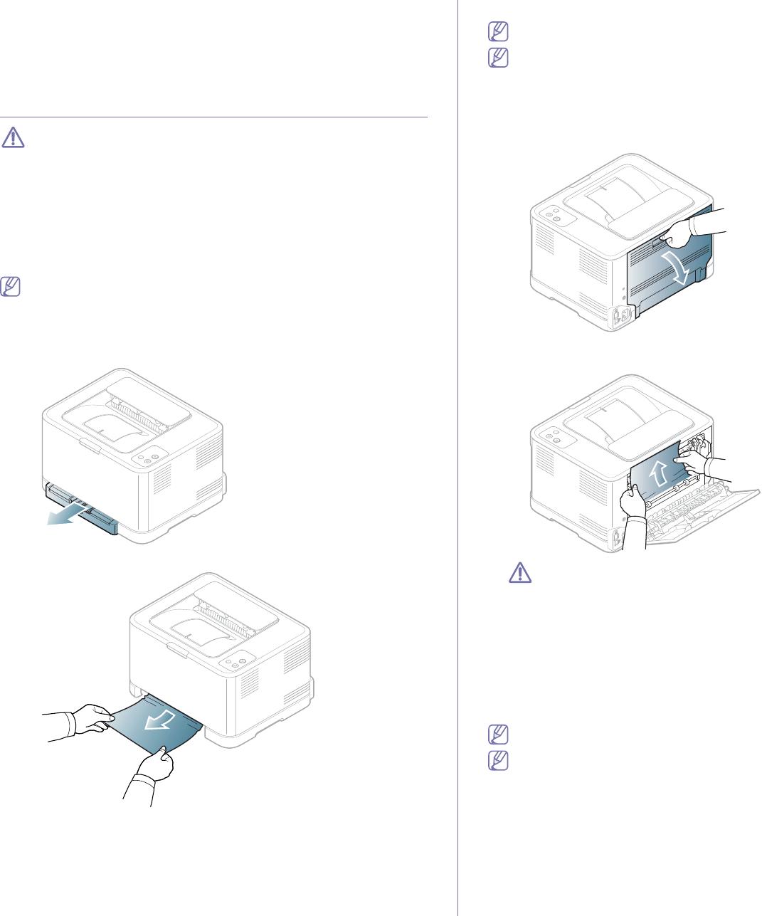 Samsung CLP-320, CLP-325W Clearing paper jams