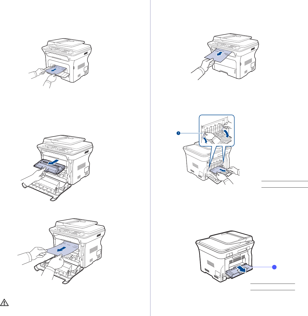 Samsung SCX4826FN, SCX-4x26 In the manual tray, In the