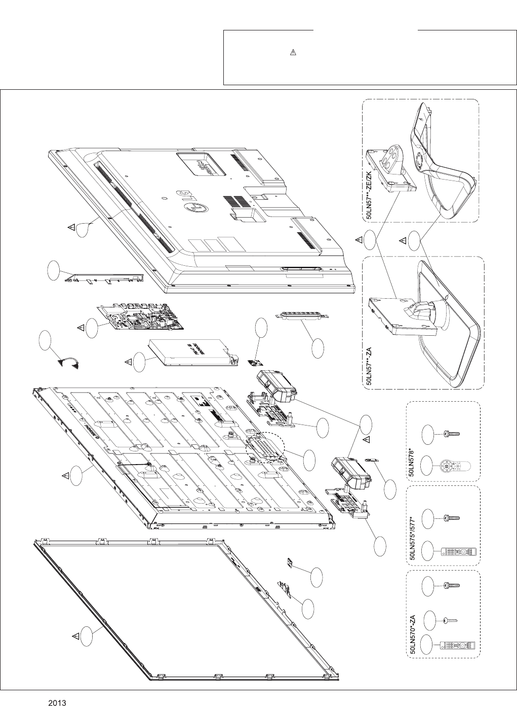 LG Electronics 50LN57**-Z* EXPLODED VIEW