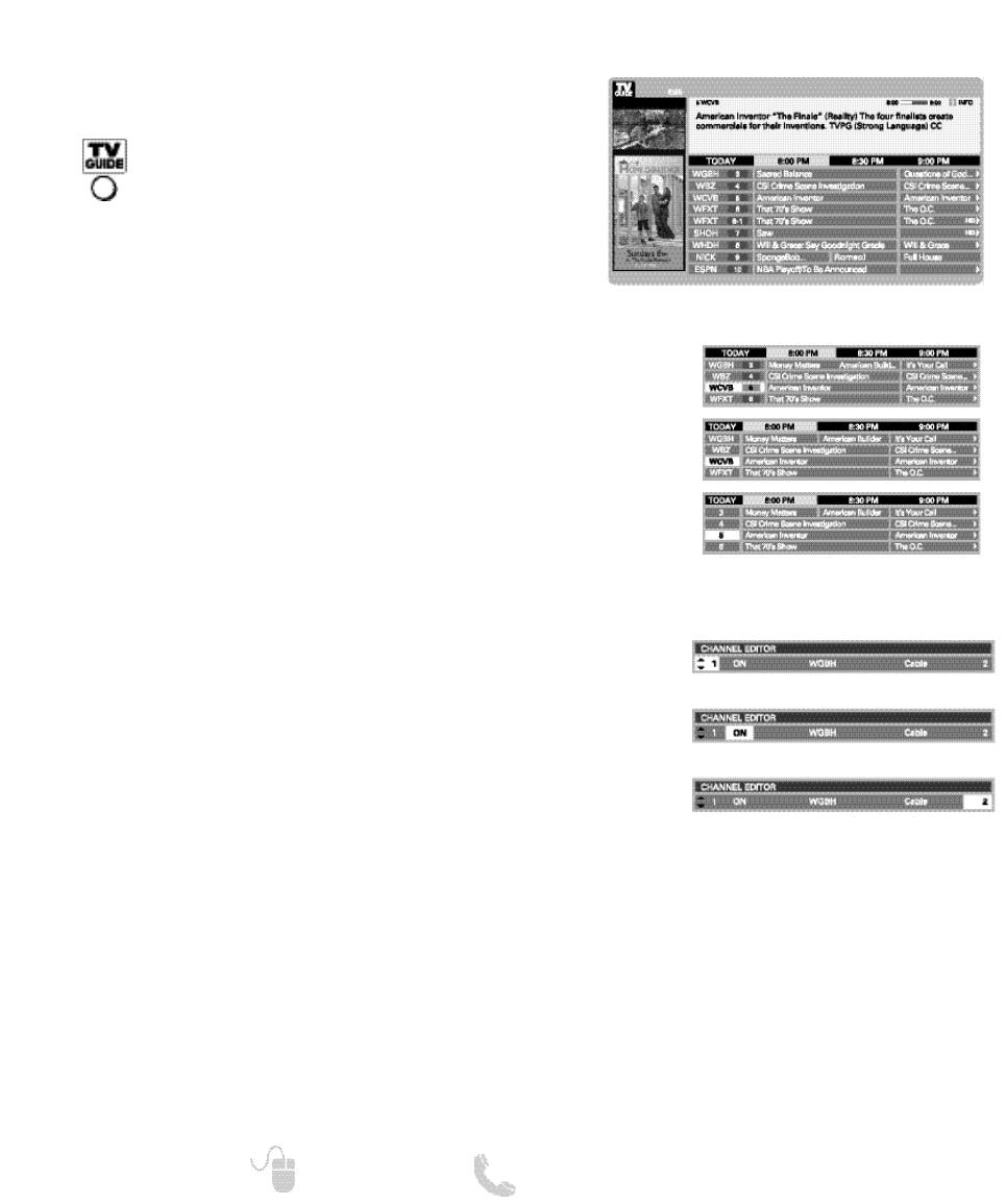 Sanyo DP32649 18 , TV GUIDE SETUP AND OPERATION