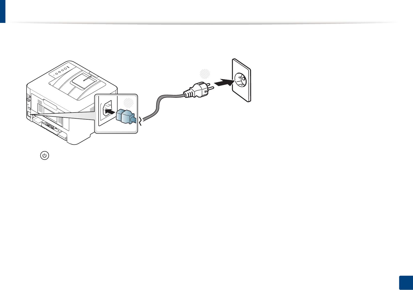 Samsung M262x, M282x, M283x series Turning on the machine