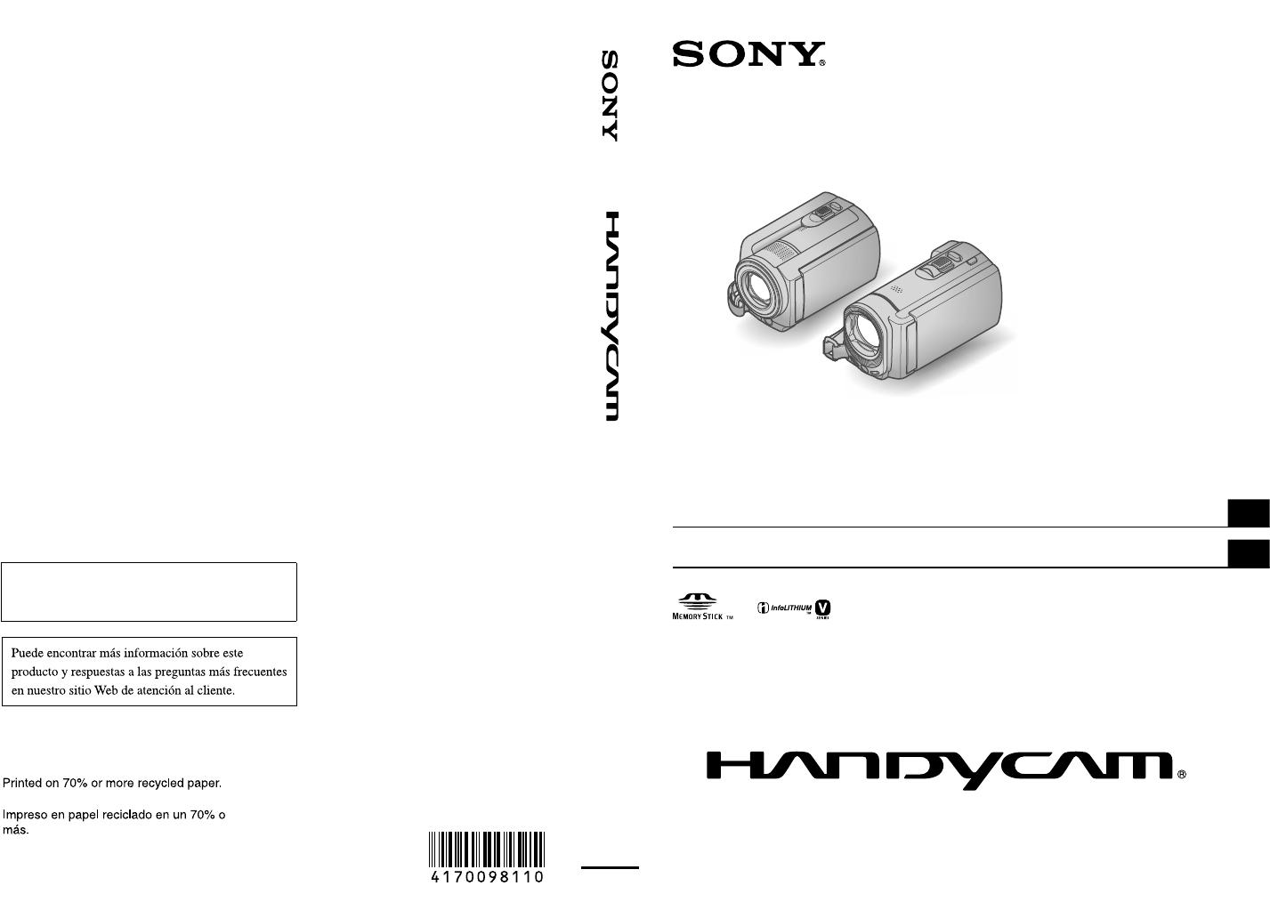 Sony DCR-SR68, DCR-SR68/L, DCR-SR88, DCR-SX43, DCR-SX44