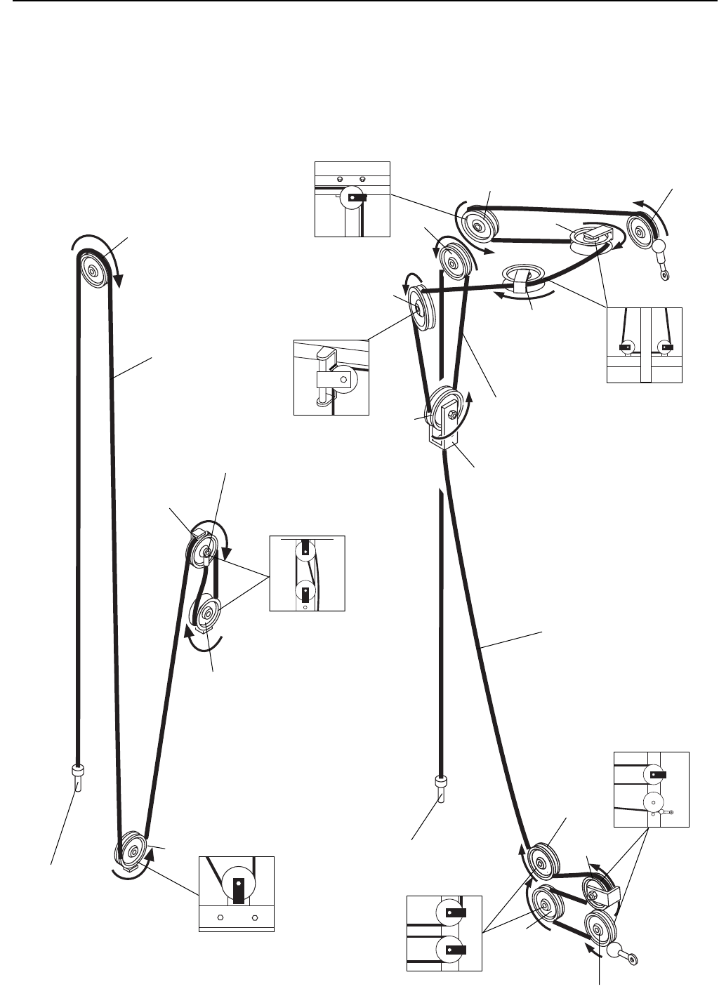 Weider 8530 CABLE DIAGRAM