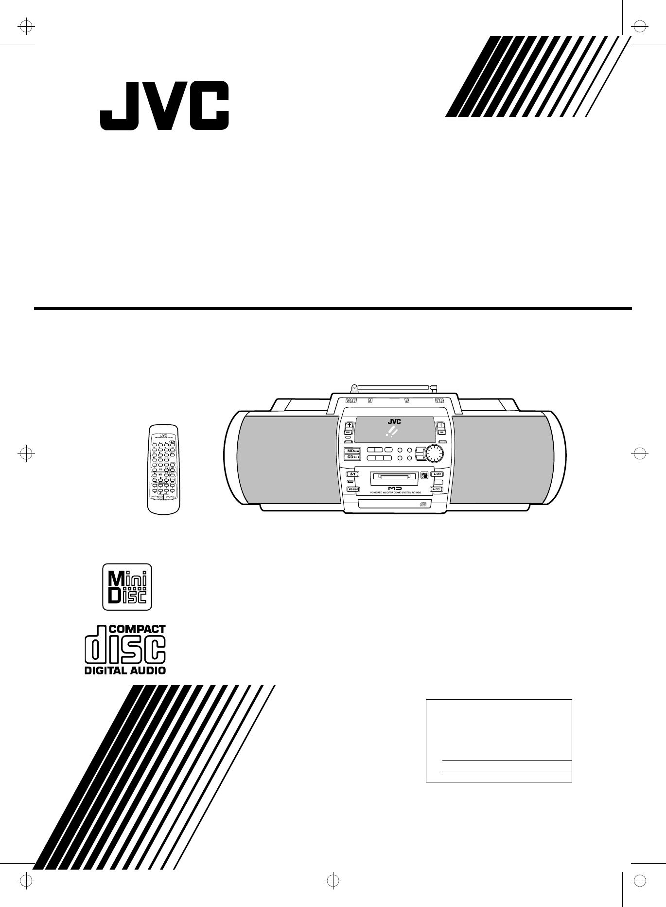JVC RD-MD5 manual