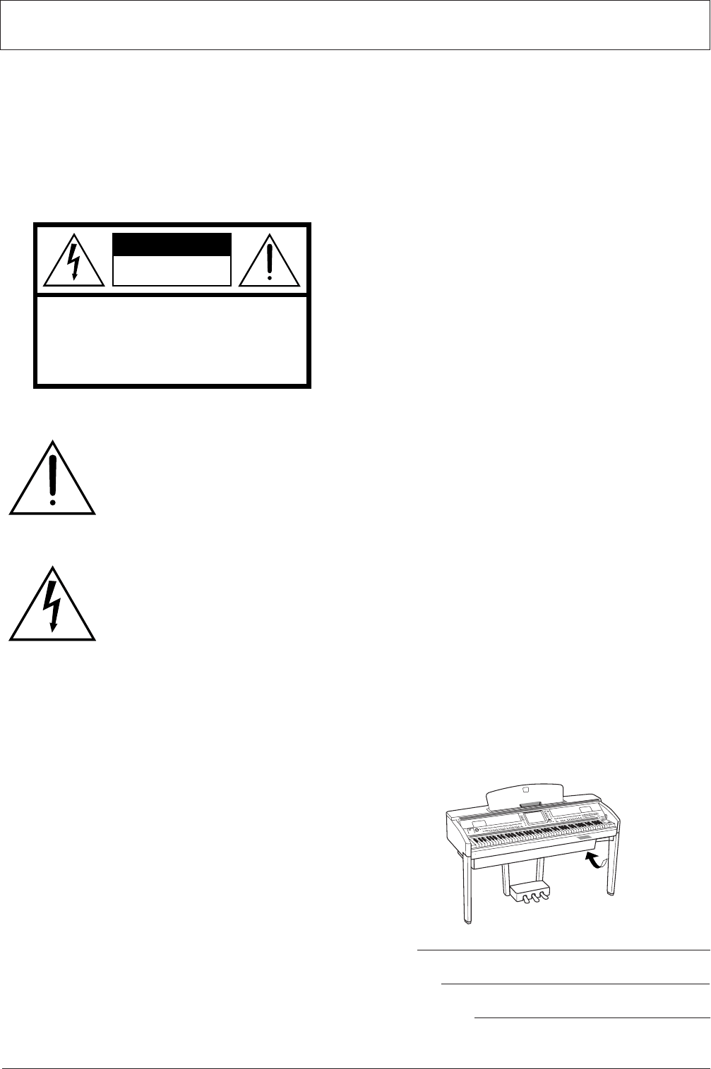Yamaha CVP-505, CVP-501, CVP-503 SPECIAL MESSAGE SECTION