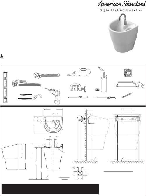 small resolution of american standard 9118 1 9118 111 9118 15 icu sink system installation instructions