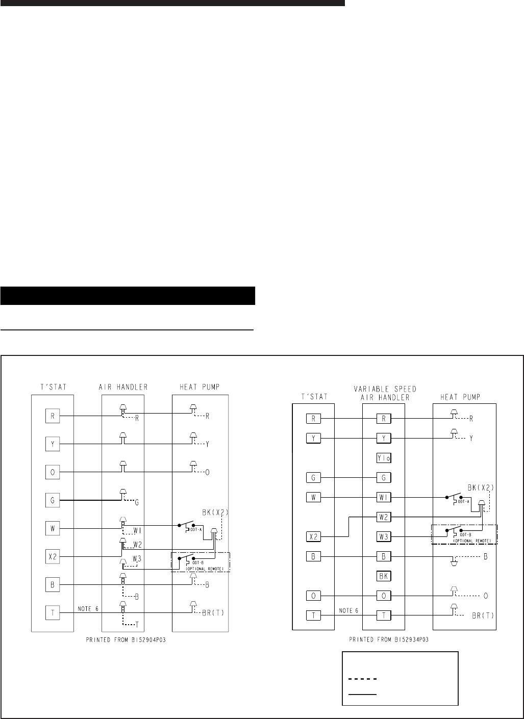 Trane 2twa0 2twa2 Typical Field Hook Up Diagrams H