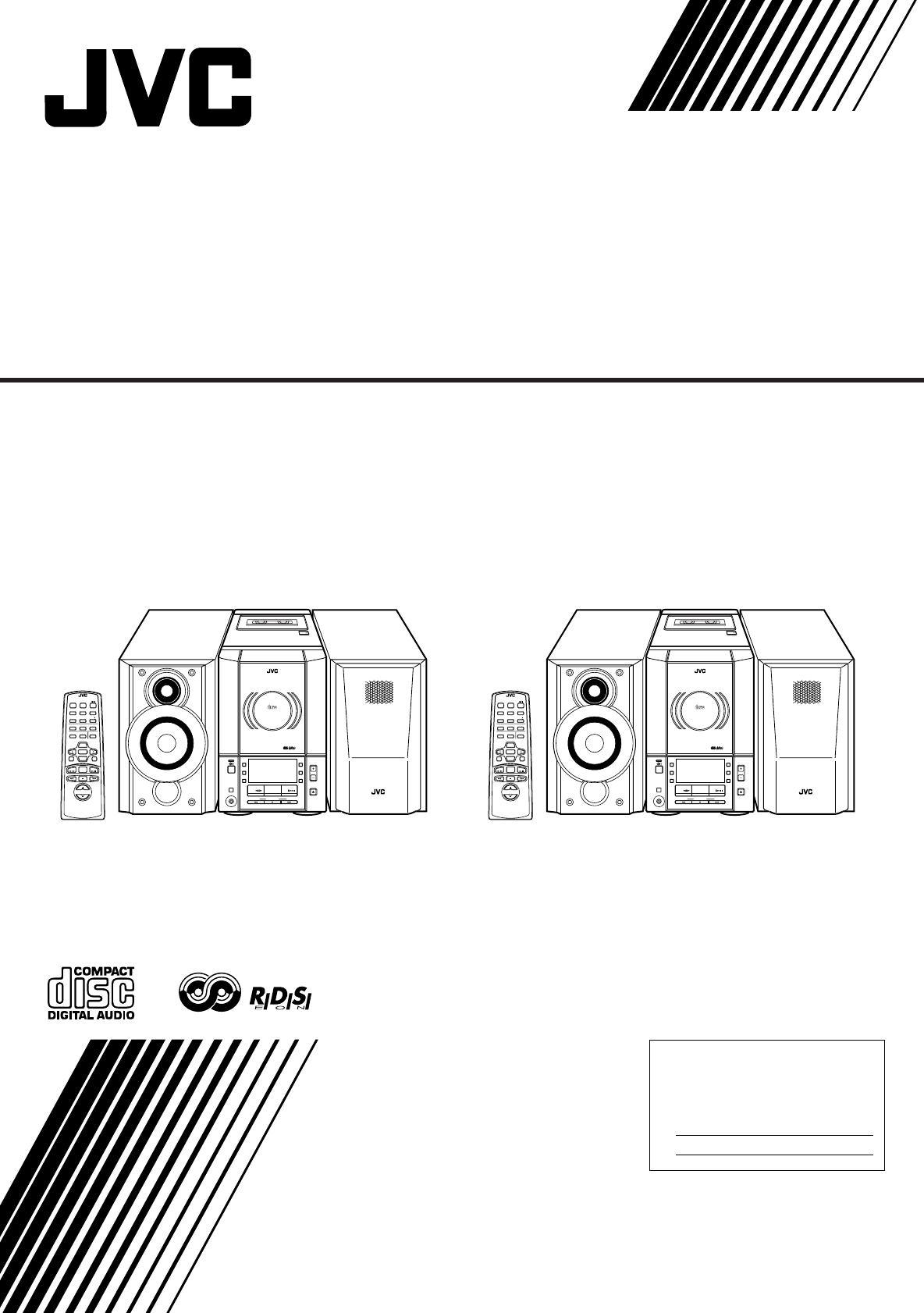 JVC UX-V30R, UX-V330R manual