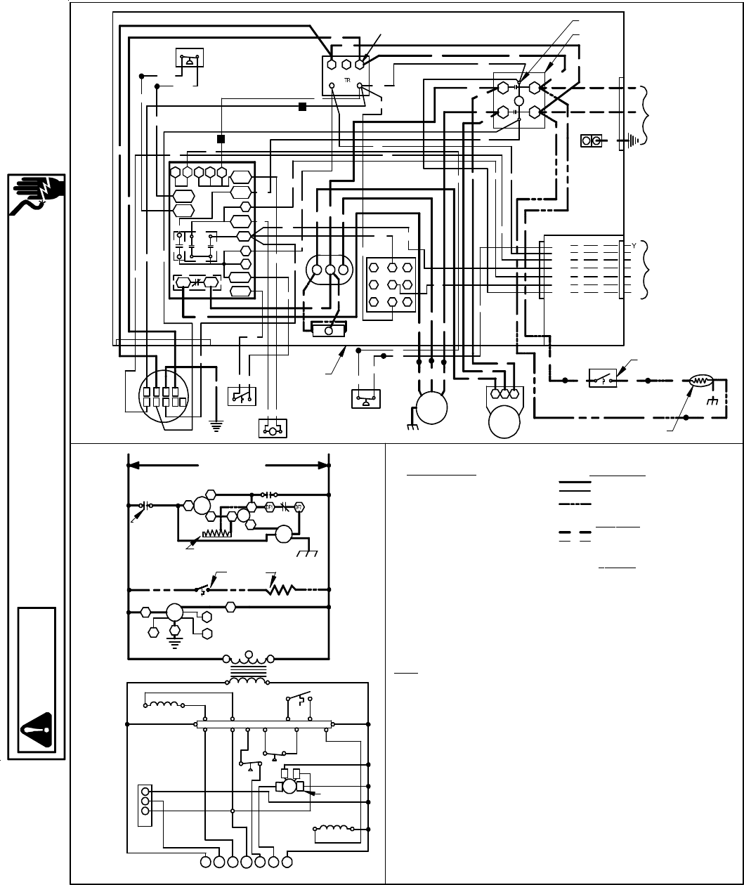 Goodmans Gph 13 H Package Heat Pump Units Wiring Diagrams