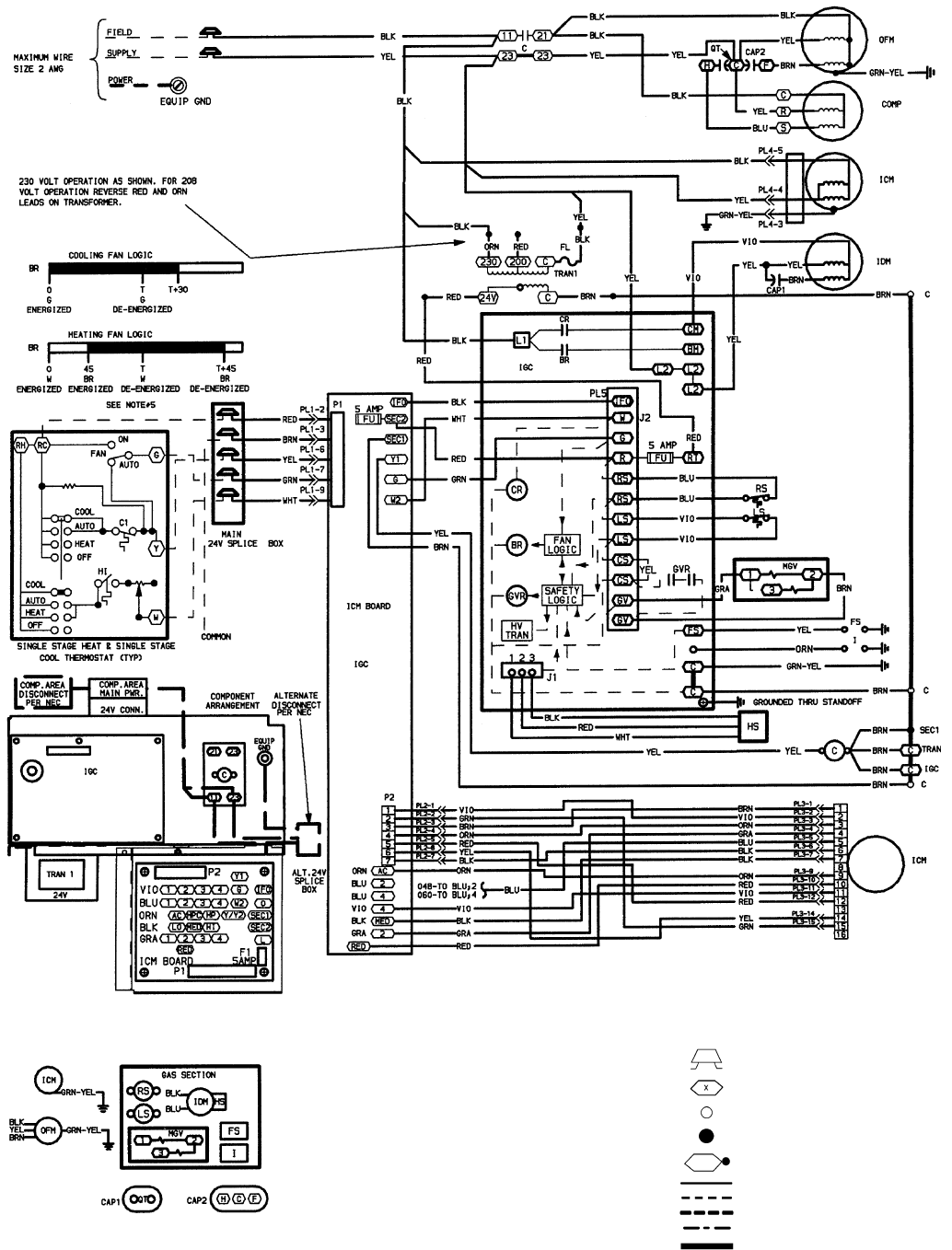 208 Single Phase Wiring