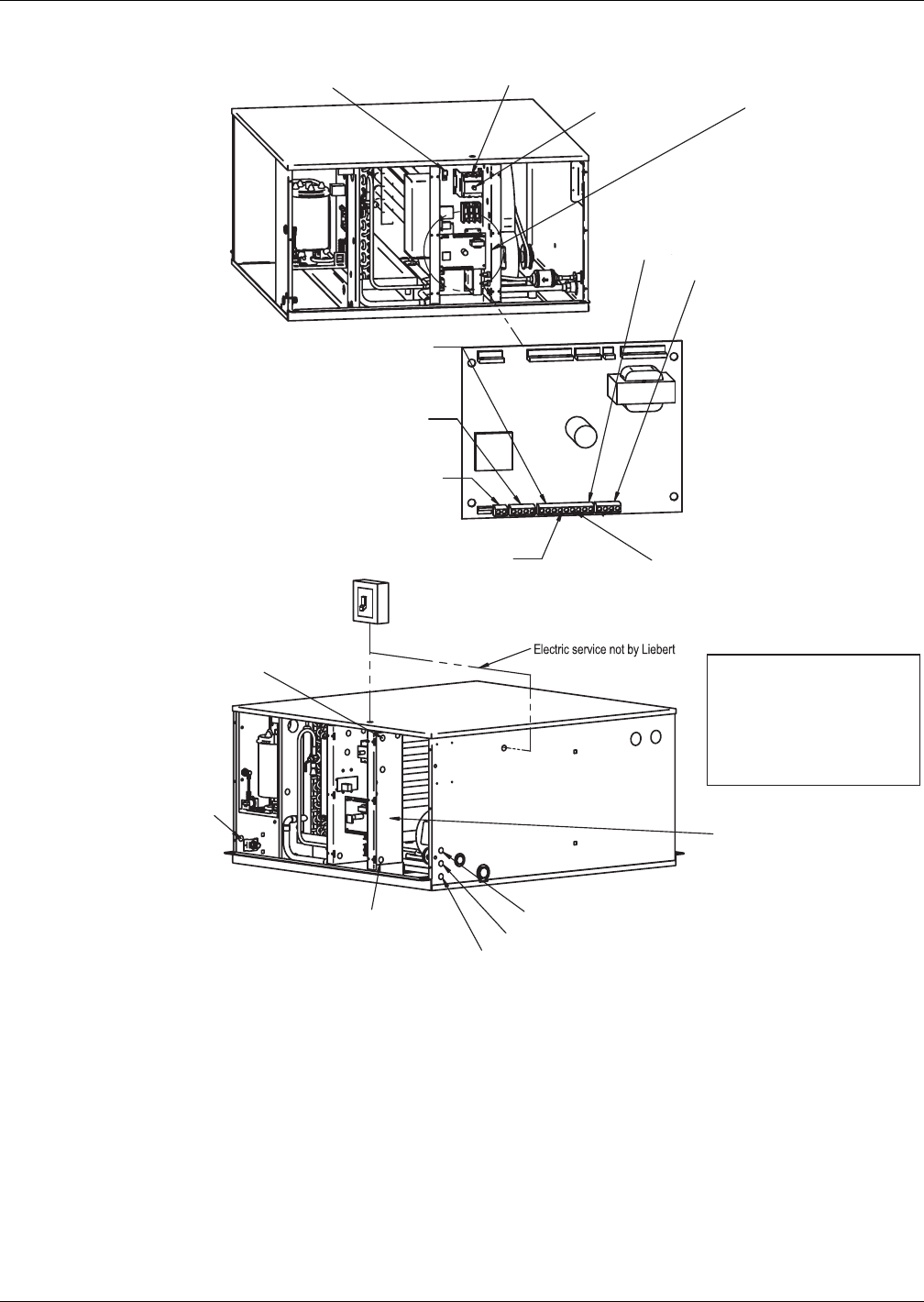 Emerson MINI-MATE2 Figure 14 Evaporator unit electrical