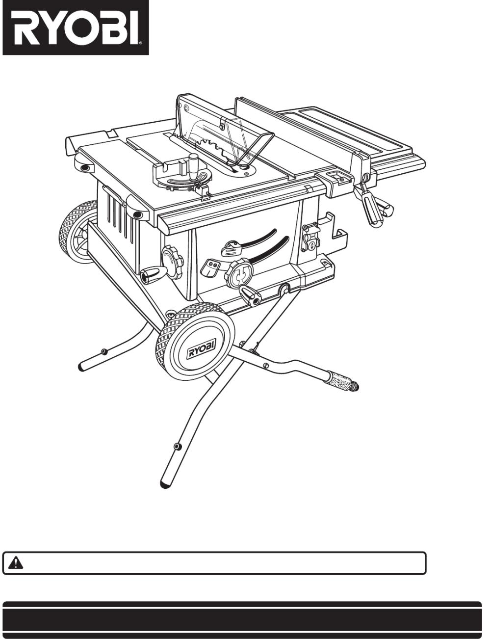 medium resolution of  ryobi bts20r manual on ryobi bts15 rip fence used ridgid table saw ryobi bts15 ryobi bts table saw wiring diagram