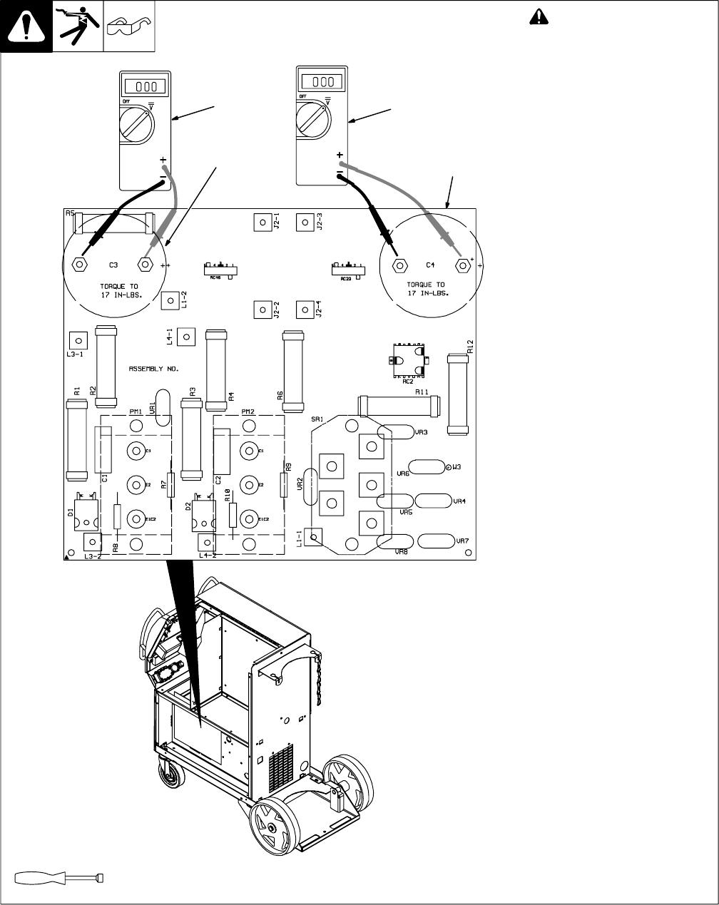 hight resolution of  breakdown diagram miller electric 350 350p millermatic 350 6 3 mering input capacitor vole wiring