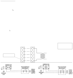 1 typical field wiring diagram condensate drain service access thermostat power and control wiring compressors [ 1028 x 1109 Pixel ]