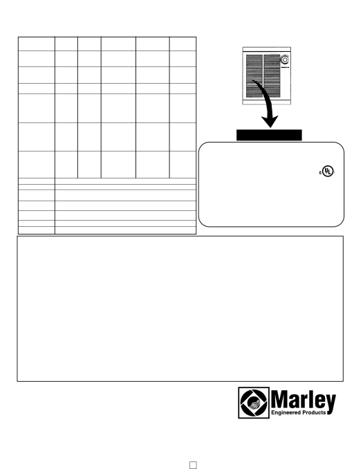 small resolution of marley engineered products sra ds sra ds series model b b important information