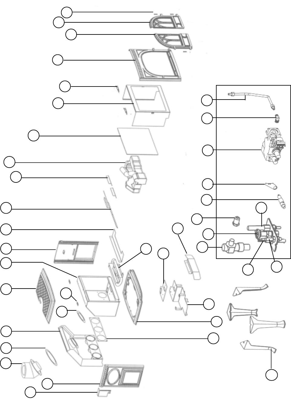 Jotul GF3 DVII Illustrated Parts List