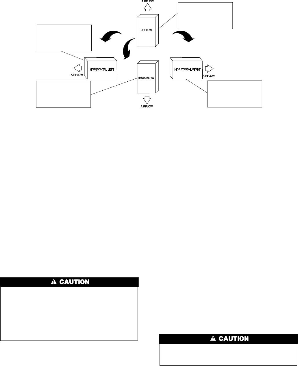 Bryant 310AAV, 310JAV Fig. 4Multipoise Orientations, 5