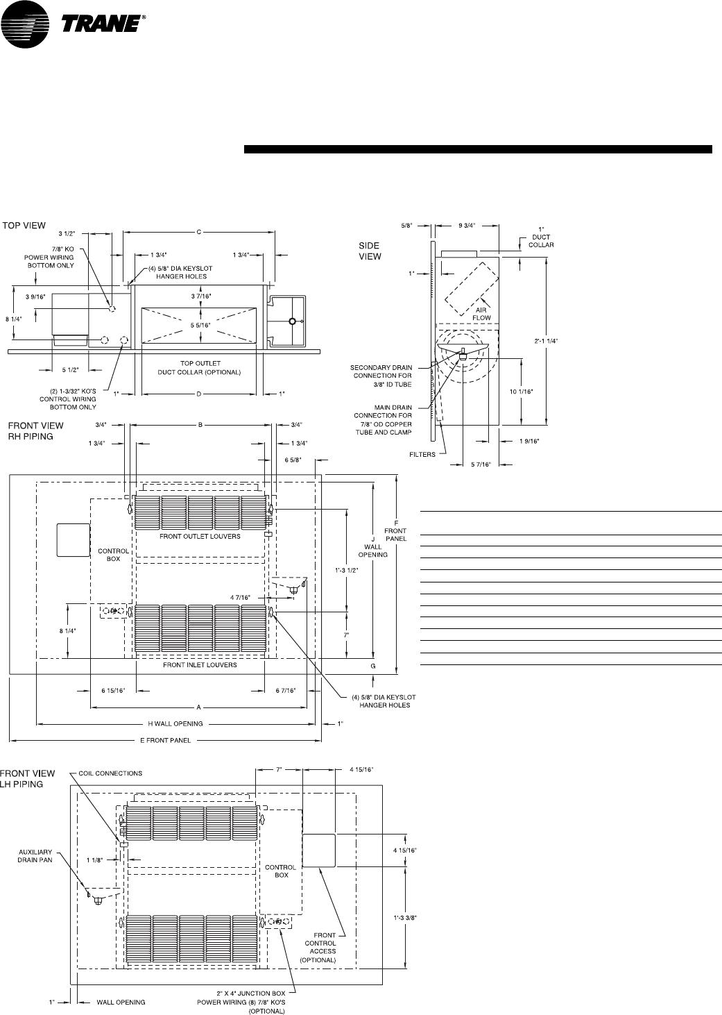 Trane Fan Coil Unit Wiring Diagram