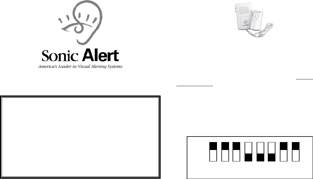 Sonic Alert DB100 warranty