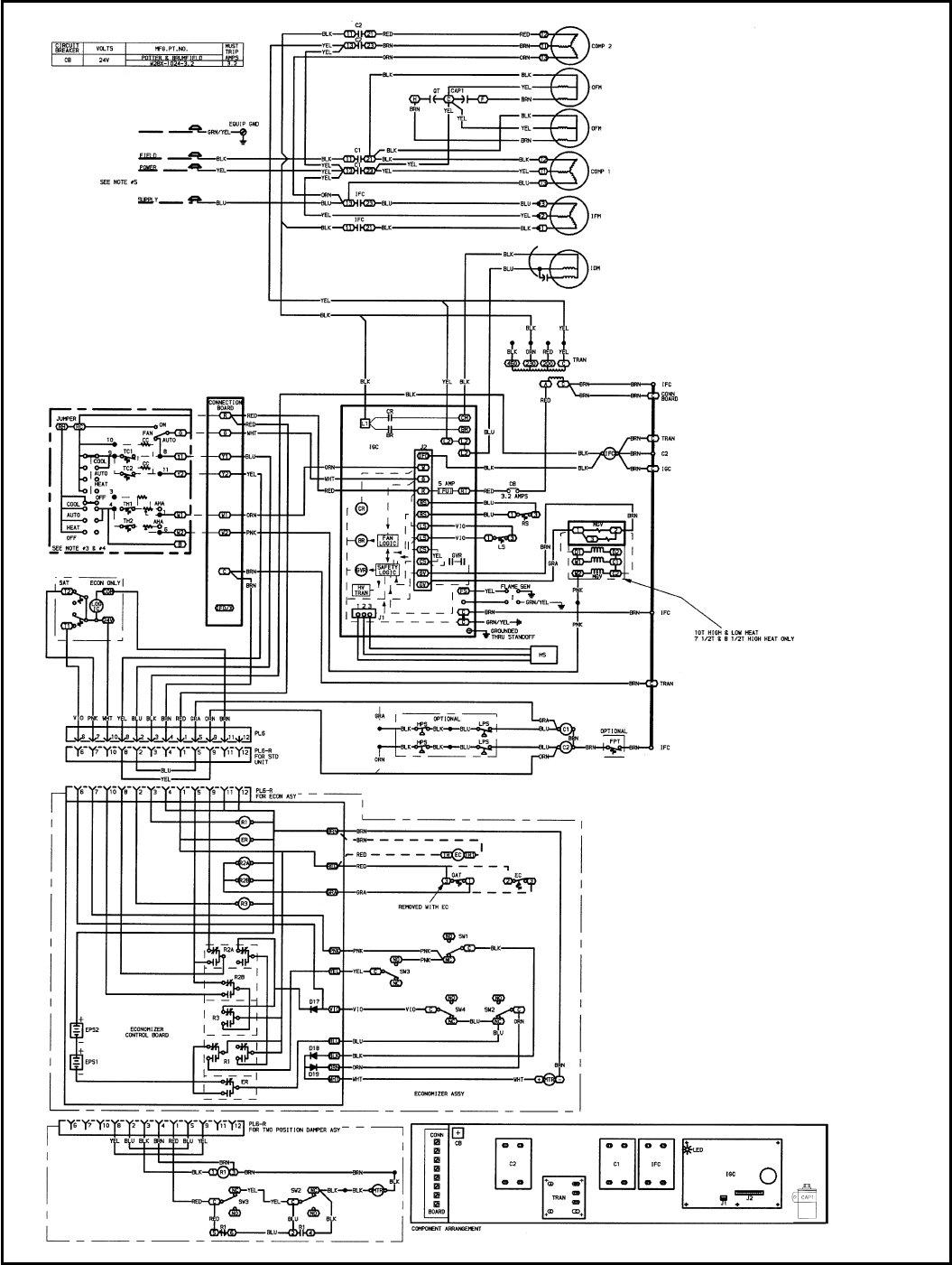 Bryant 580D TYPICAL WIRING SCHEMATIC 580D036-150