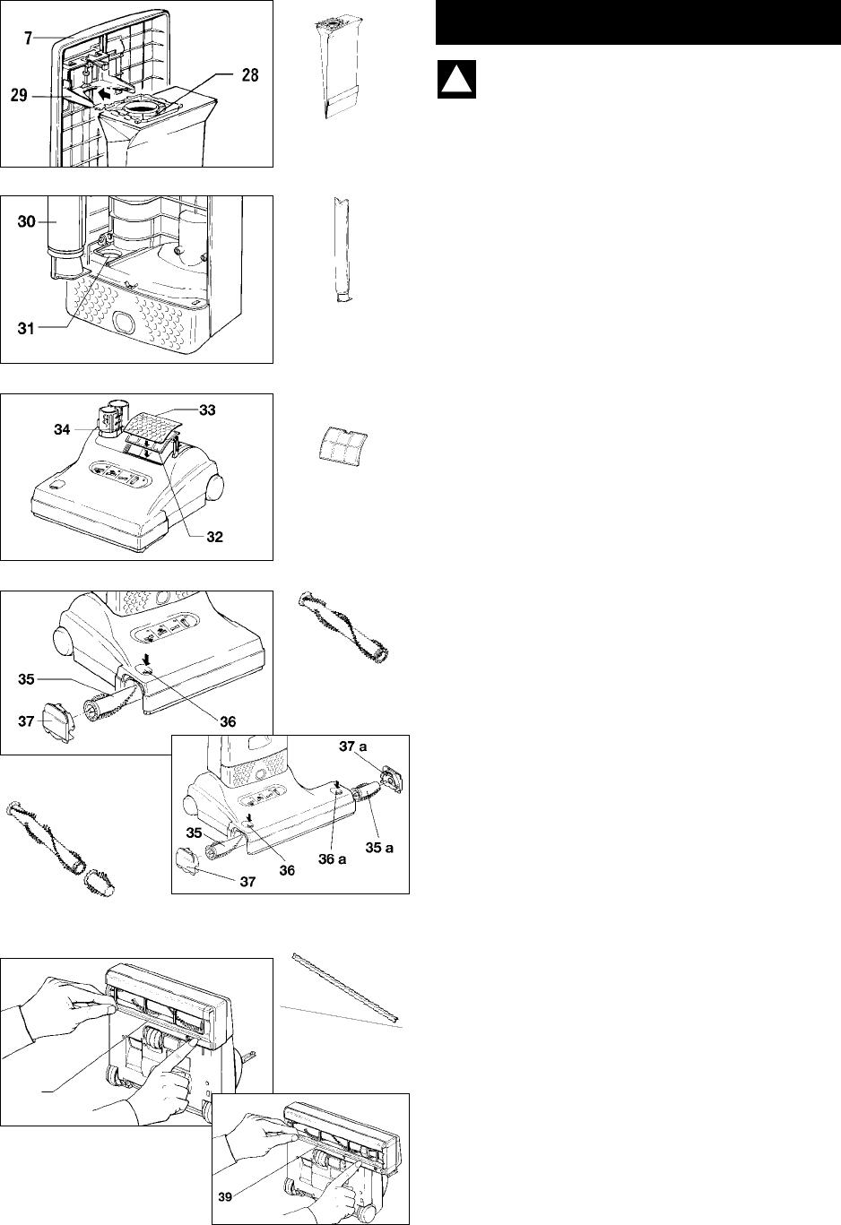 Sebo X4, X5 Maintenance