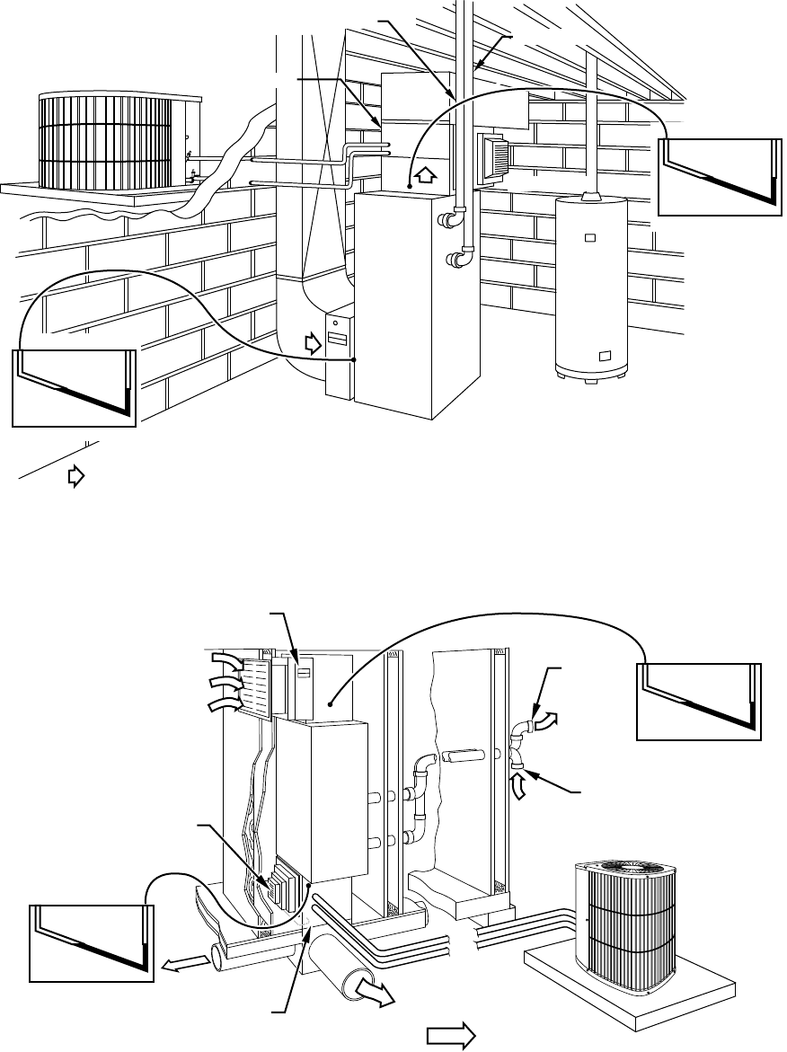 Carrier 58MVP Static Pressure Reading Location Diagrams