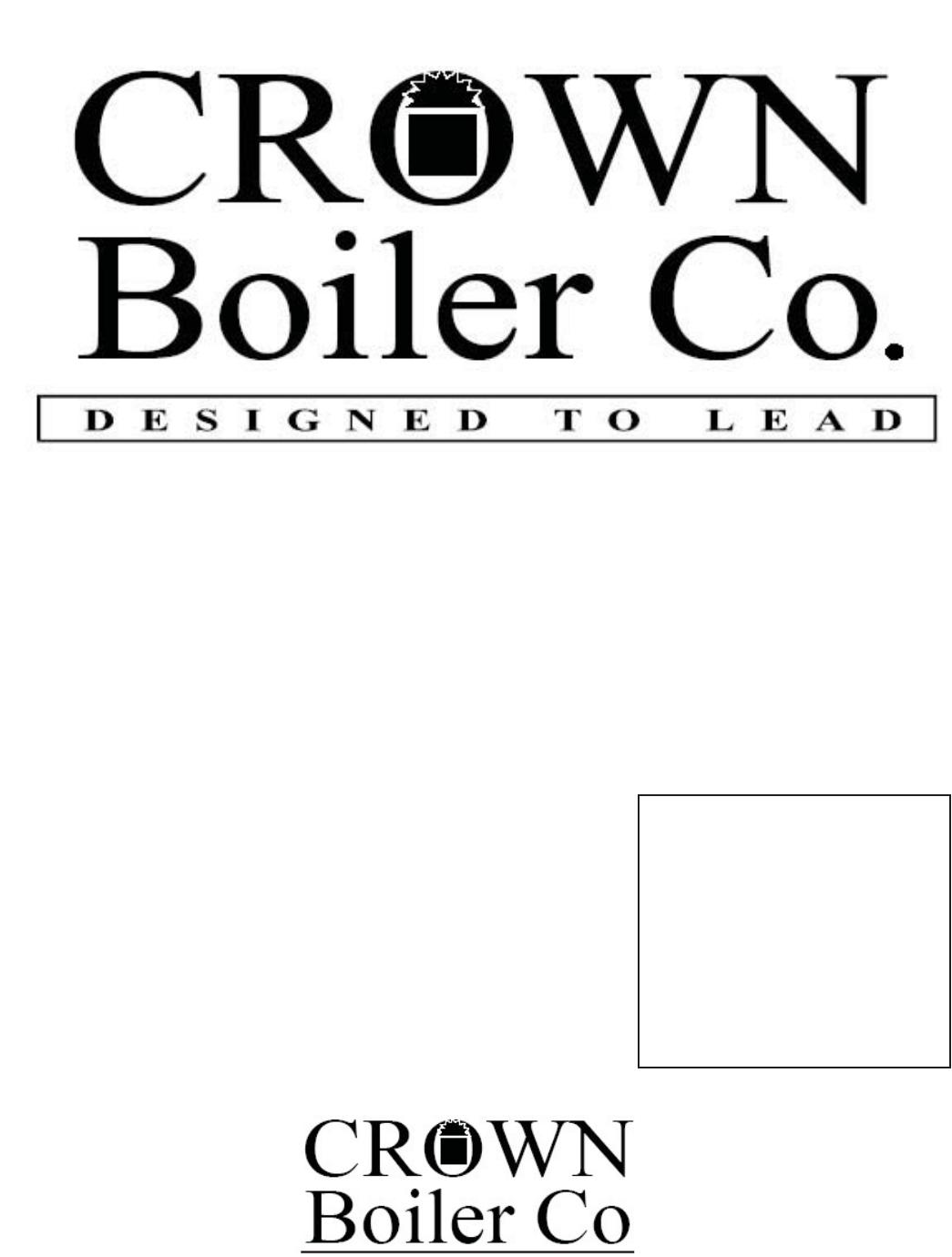 Crown Boiler Cwd060 Cwd083 Cwd110 Cwd138 Cwd165 Cwd193 Cwd220 Cwd245 Installation
