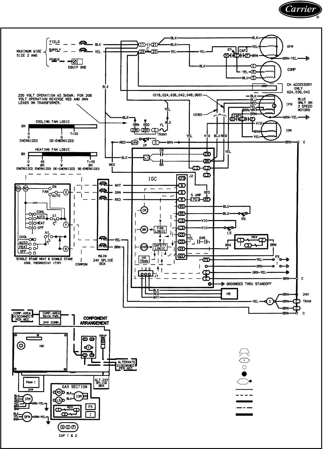 Carrier 48SS 48SS018-060; 208/230-1-60