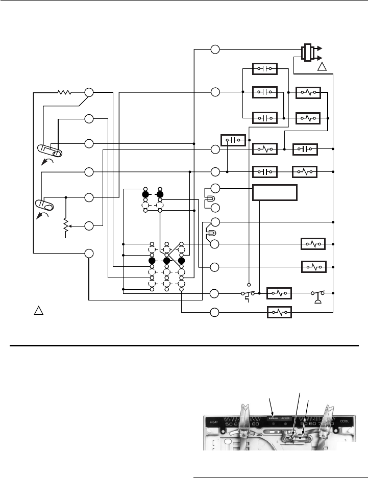 Honeywell T874/Q674 Fig. 7Internal schematic and typical